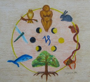 The Sacred Hoop; mixed media; 2014